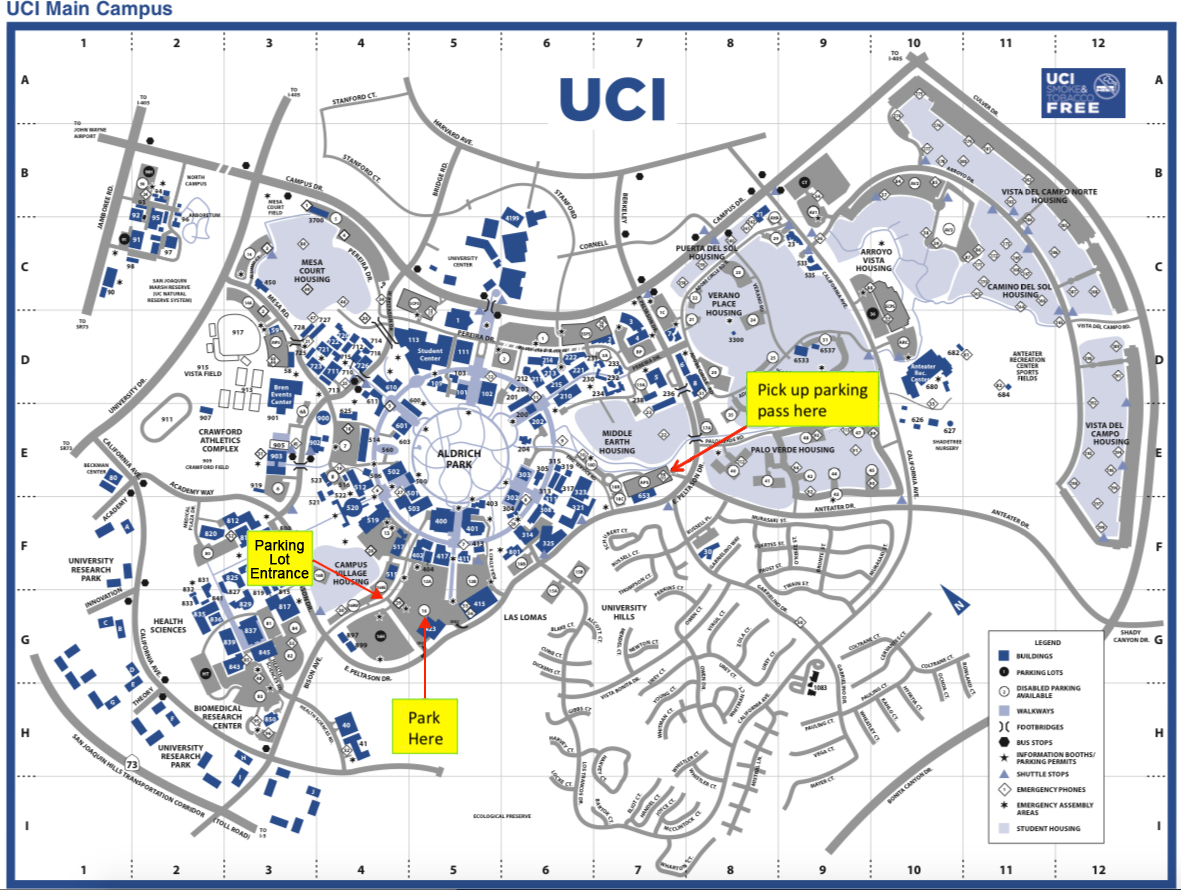 uci main campus map Visiting Physics Astronomy At Uci Uci Physics And Astronomy uci main campus map